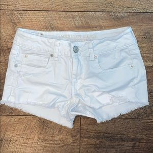 America Eagle White Jean Shorts